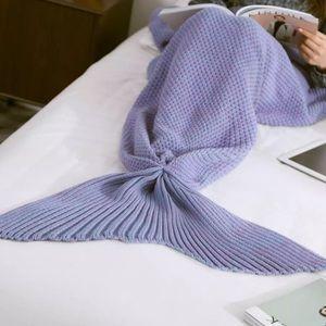 Accessories - ⬇️Knitted Mermaid Tail Blanket in Dream Purple💫